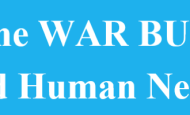 Cut the war budget, fund human needs