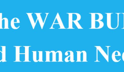 Cut the war budget, fund human needs