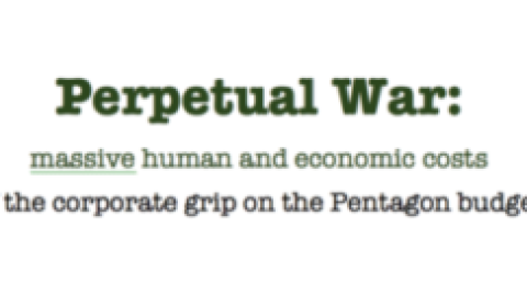 Perpetual War:  massive human and economic costs – talk by William Hartung on Jan. 24